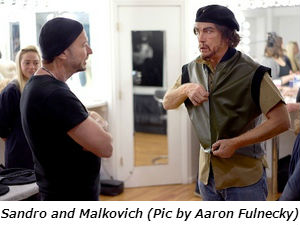 Sandro and Malkovich Pic by Aaron Fulnecky