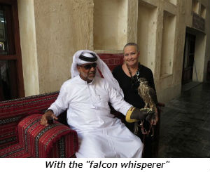 With the falcon whisperer