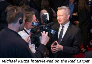 Michael Kutza interviewed on the Red Carpet