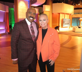 With the one and only Steve Harvey!