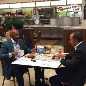 Steve Harvey and Jerry Seinfeld at Manny's Deli!
