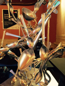 Cool spoon sculpture at the Gala