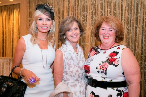 Co-chairs Kristina McGrath and Susan Colletti with SC pres Myra Reilly