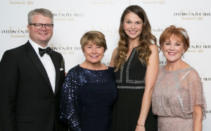 Gala trustee chair Jeffrey W. Hesse, gala co-chair Frances K. Del Boca, Sutton Foster and Gala co-chair Linda Aylesworth