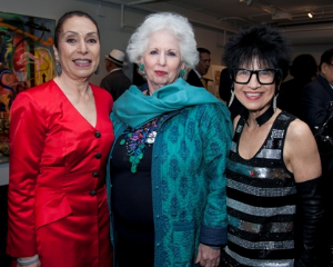 Harriet Ross, Barbara Levy Kipper (performance sponsor) and Elaine Rubin