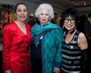 Harriet Ross, Barbara Levy Kipper (performance sponsor) and Elaine Rubin