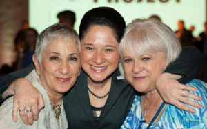 Puppy Mill Project founder Cari Meyers, Chicago City Clerk Susana Mendoza and Dee Santucci
