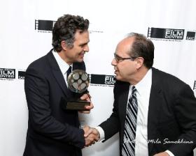 Carol Fox's Nick Harkin congratulates Ruffalo