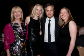 Ruffalo with Melissa Sage Fadim and her daughters Emily Booth Peck and Amanda-Jane Weidenaar