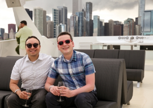 Newlyweds Rudy Segovia and Andy Sinclair