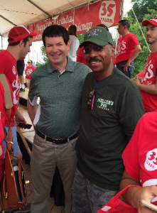Alderman Brian Hopkins and Everett Rand.