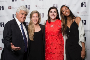 Jay Leno and his pretty friends