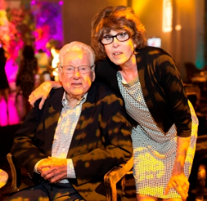 Tom's dad Luke Kehoe with Kathy Kehoe.