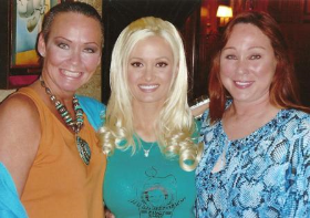 With Holly and Patti Connors at the Mansion (when Holly seemed pretty happy there)