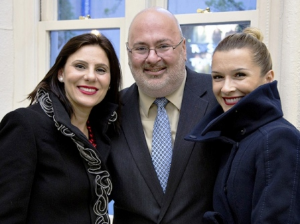 Kevin Sullivan with Simona Garcia and Anca Boros