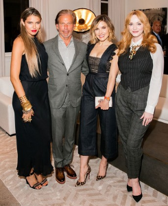 Bella Hunter, RH Chairman/CEO Gary Friedman, Sophia Bush and Christina Hendricks