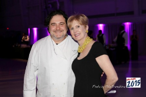 Chef Mauro Mafrici (Pelago Ristorante) and Margaret O'Connor