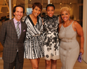 Neal Zucker, Desiree Rogers and her daughter Victoria and Linda Johnson Rice (lookin' good!)