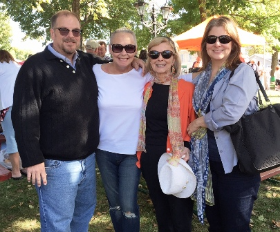 With cousins Mark Stott and Cindy Groce and my Aunt Lora