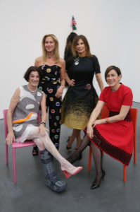 Anne Kaplan, Marilyn Fields, Barbara Bluhm-Kaul and Madeleine Grynztejn
