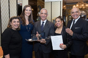 Dr. Fortunee Massuda, Buccellati's Marit and Jacques Bohbot, Vonita Reescer and Buccellati CEO Randal Soto