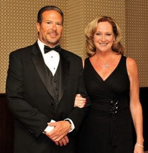 Steve Wilson poses with his wife, Karen, Pres/CEO of MAKE Corp. and 8th Annual Inspire Greatness Gala Chair
