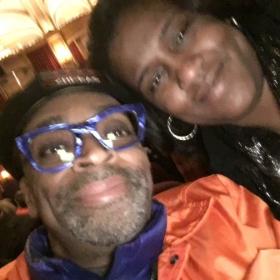 WVON producer Courtney Scott's selfie with Spike