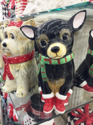 They even have Chihuahua holiday cookie jars!
