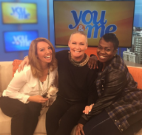 With Melissa Forman, 3rd co-host Rooney Jordan and Nika Clark