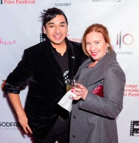 Cinema/Chicago Development and Membership Manager Nico Rodriguez and Governing Board member Lauren Robishaw