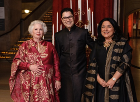 Gala co-chairs Barbara Levy Kipper and Arjun and Anu Aggarwal
