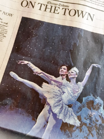Joffrey dancers Temur Suluashvili and Victoria Jaiani in Chicago Tribune