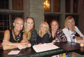 Drinks at Hef's with Aubree Connors, Alison Reynolds, Patti Connors and Monique St. Pierre
