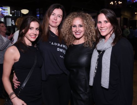 Beth Heller (2nd from right) with cute girlfriends