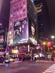 Hayes in Times Square