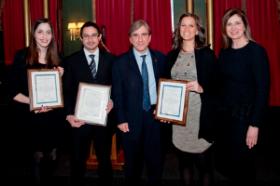 Lauren Socol, Mario Pineda, Dr. Leonidas Platanias, Dr. Erin Pettijohn and Joan Moore