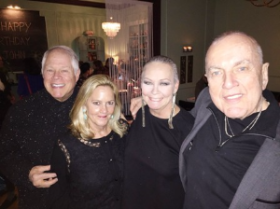With Chuck, Leslie Hindman and the Birthday Boy John Lanzendorf