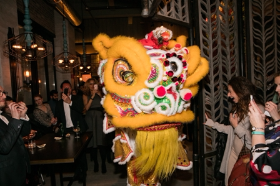 The Dragon Dance for the opening party