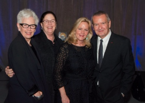 Legendary Landmark honorees Jane Sahlins, Erica Mann Ramis (on behalf of her late husband Harold), Leslie Hindman and Michael Kutza