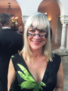 Carrie Lannon and her creative mask