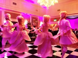 Dancers performing before dinner