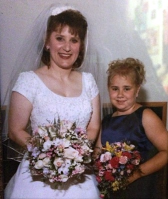 Brittney with her aunt at her wedding
