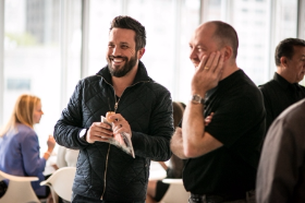Top Chef alum Fabio Viviani with Giuseppe Tentori