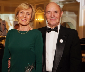 Annie and Jean-Pierre Ergas, honorary gala chair, and his spouse