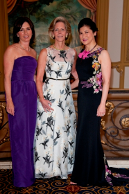 Woman's Board President Anne Patel with Gala Co-Chairs Mimi Murley and Charlene Huang Olson