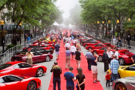 Red Carpet for Ferraris on Oak