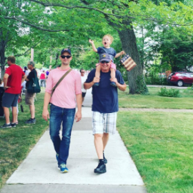Amalie Drury's family enjoyed a hometown parade in Lakewood, Ohio