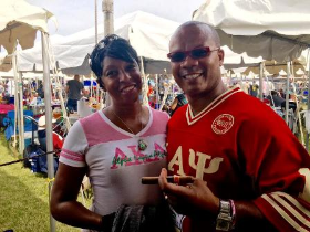 Frances and Andre Guichard at Chosen Few Picnic