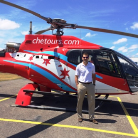 Chicago Helicopter Experience Tours' Trevor Heffernan worked over July 4th