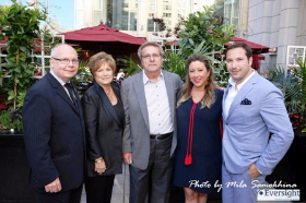 Ed Howlett and The First Family of Steak-- Marion, Tony and Michelle Durpetti with Collin Pierson